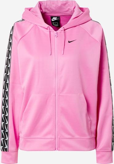 Nike Sportswear Sweatjacke in pink / schwarz, Produktansicht