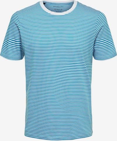 Tricou SELECTED HOMME pe albastru cer / alb, Vizualizare produs