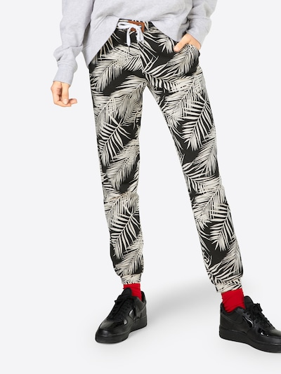 Iriedaily Pantalon 'La Palma' en crème / noir, Vue avec modèle