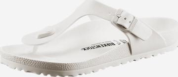 Flip-flops 'Gizeh' de la BIRKENSTOCK pe alb