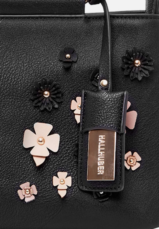HALLHUBER Handtasche mit Metallhenkeln und 3D-Blüten