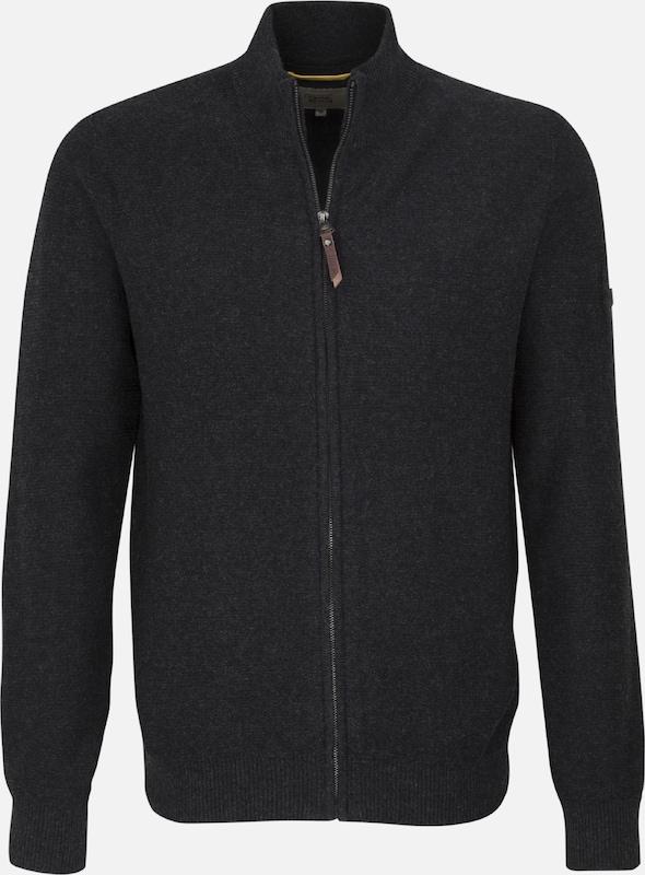 CAMEL ACTIVE Strick-Jacke in graphit  Freizeit, schlank, schlank