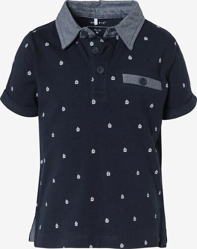 NAME IT Poloshirt 'Fano' in dunkelblau / graumeliert, Produktansicht