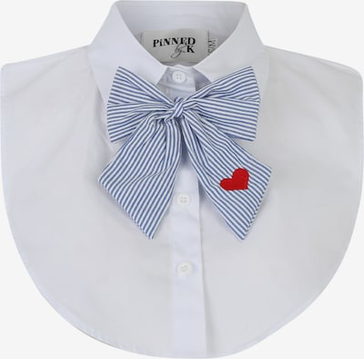 Pinned by K Apkakles 'Collar white with bowtie' pieejami zils / balts, Preces skats