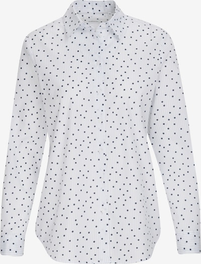 SEIDENSTICKER Bluse 'Schwarze Rose' in blau / weiß, Produktansicht