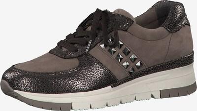TAMARIS Sneaker in braun / taupe: Frontalansicht