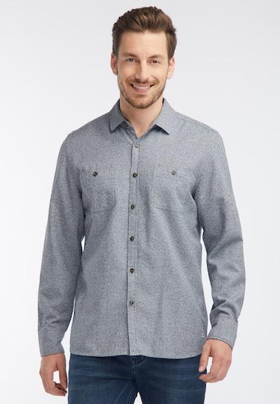 MUSTANG Hemd in nachtblau / weiß: Frontalansicht