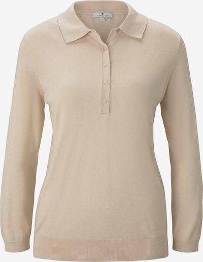 TOM TAILOR Pullover & Strickjacken Pullover mit Polokragen in beige, Produktansicht