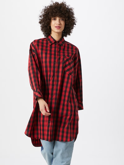 Ottod'Ame Kleid 'CAMICIA' in rot / schwarz, Modelansicht