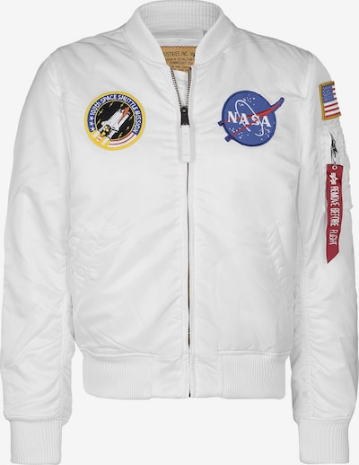 ALPHA INDUSTRIES Bomberjacke 'VF Nasa' in weiß, Produktansicht