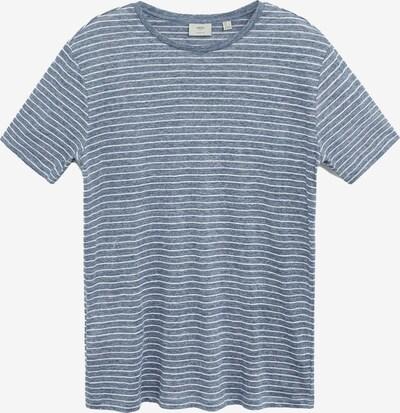 MANGO MAN Shirt 'Camiseta Limar' in taubenblau / weiß, Produktansicht