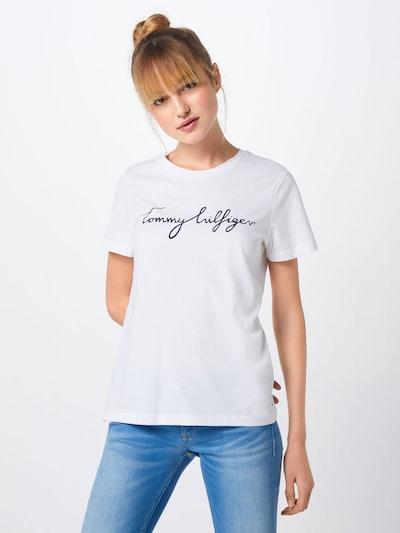 TOMMY HILFIGER Shirt 'HERITAGE CREW NECK G' in nachtblau / weiß: Frontalansicht