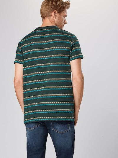 Iriedaily T-Shirt 'Monte Noe Jaque' en pétrole / vert foncé / orange: Vue de dos