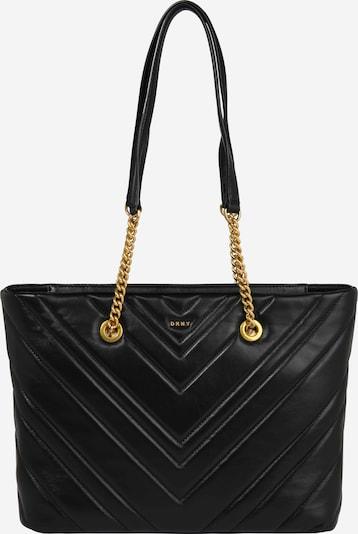 DKNY Tasche 'Vivian - Chevron' in gold / schwarz, Produktansicht
