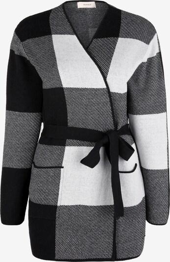 TRIANGLE Strickjacke in schwarz / weiß, Produktansicht