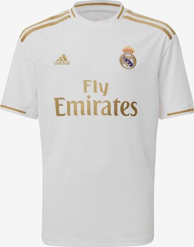 ADIDAS PERFORMANCE Fußballtrikot in gold / weiß, Produktansicht