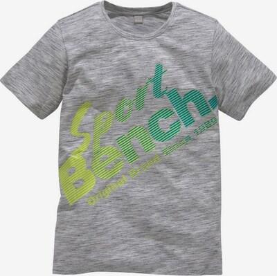 BENCH T-Shirt in türkis / gelb / graumeliert, Produktansicht