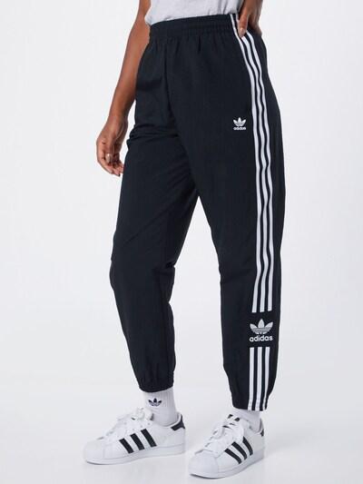ADIDAS ORIGINALS Broek 'LOCK UP TP' in de kleur Zwart / Wit, Modelweergave