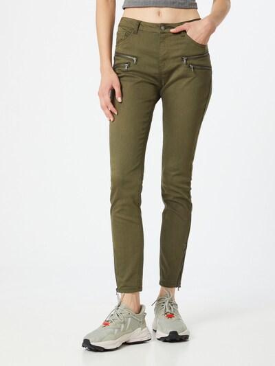 Pantaloni 'Aida' Freequent pe oliv, Vizualizare model