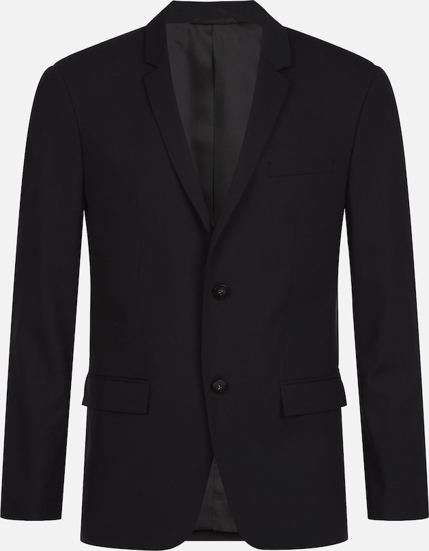 Calvin Klein Fitted Wool Stretch Blazer in schwarz, Produktansicht