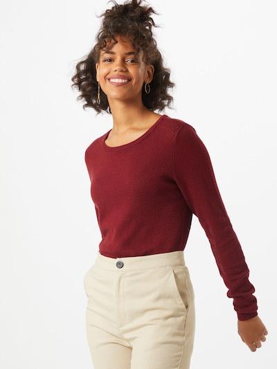 VERO MODA Pullover 'Minnie' in kirschrot, Modelansicht