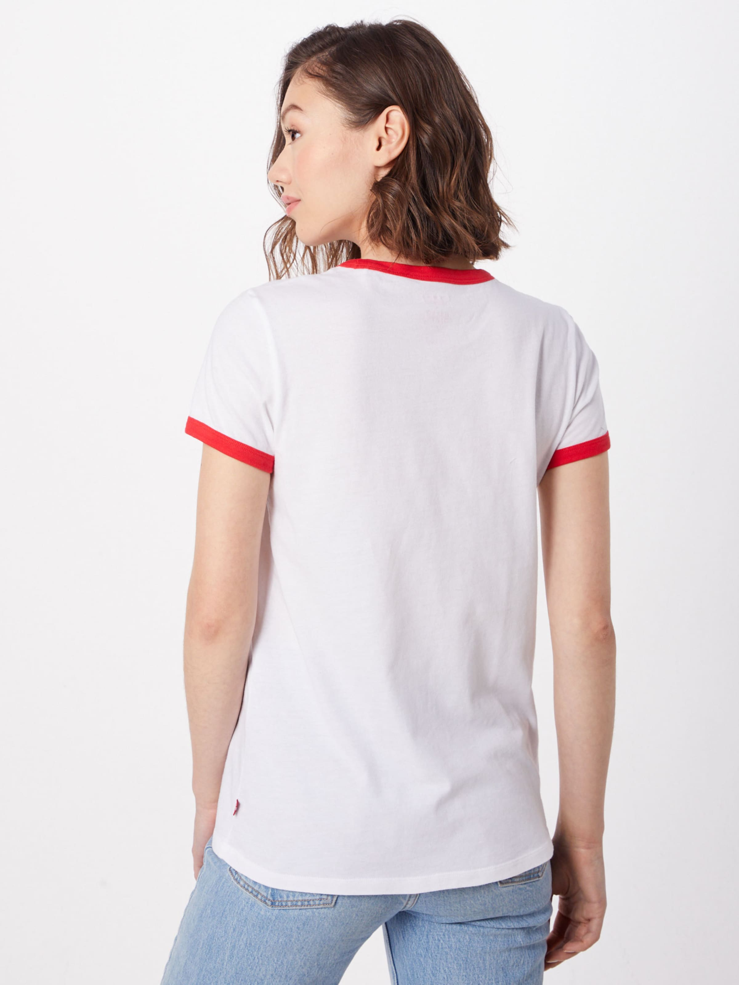 Weiß Ringer 'perfect Tee' Shirt Levi's In jARL45