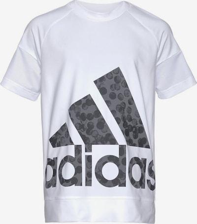 ADIDAS PERFORMANCE Shirt 'Youth Girl' in dunkelgrau / weiß, Produktansicht