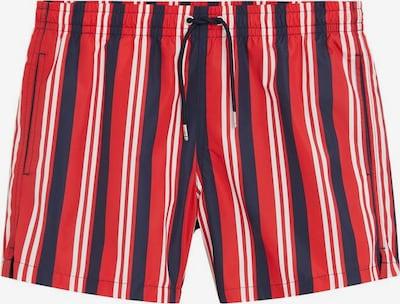 MANGO MAN Badehose 'Milos' in dunkelblau / rot, Produktansicht