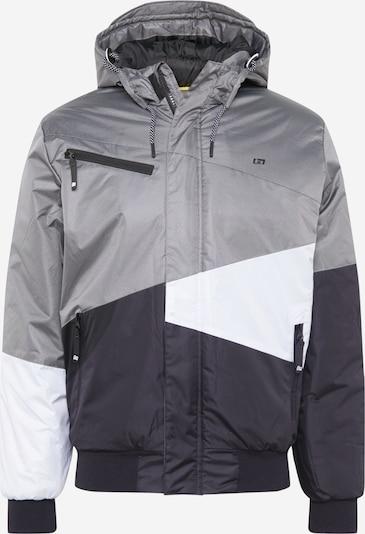 BLEND Zimska jakna u siva / tamo siva / bijela, Pregled proizvoda