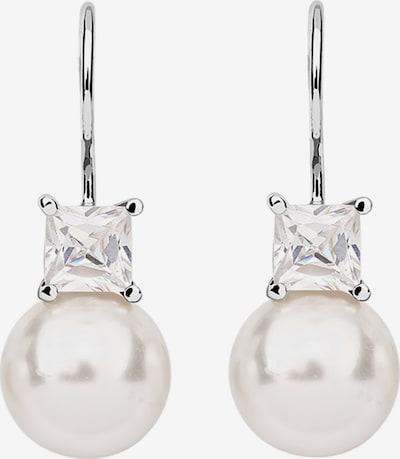 Nenalina Ohrringe in silber / perlweiß, Produktansicht
