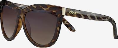 ZIPPO Sonnenbrille Cat-Eye Brown Flash Leopard in beige / braun, Produktansicht