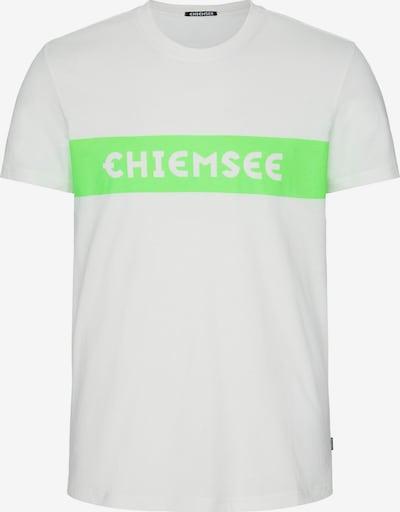 CHIEMSEE T-Shirt fonctionnel en vert / blanc, Vue avec produit