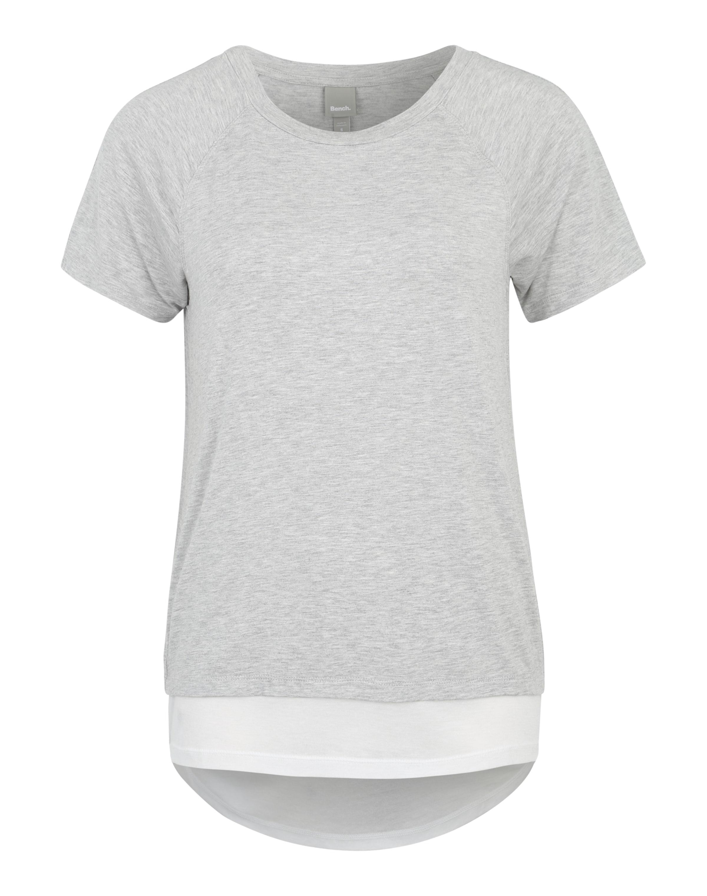 BENCH Shirt in Melange-Optik Rabatt 2018 Outlet Kollektionen voT8n3
