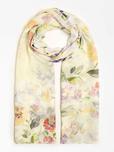 GUESS Schal in gelb / mischfarben, Produktansicht