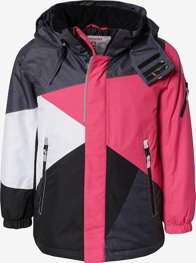 Reima Skijacke 'Kaima' in pink / schwarz / weiß, Produktansicht