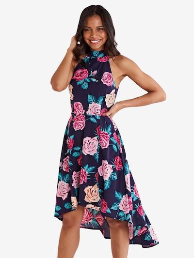 Mela London Kleid 'ROSE' in navy, Modelansicht