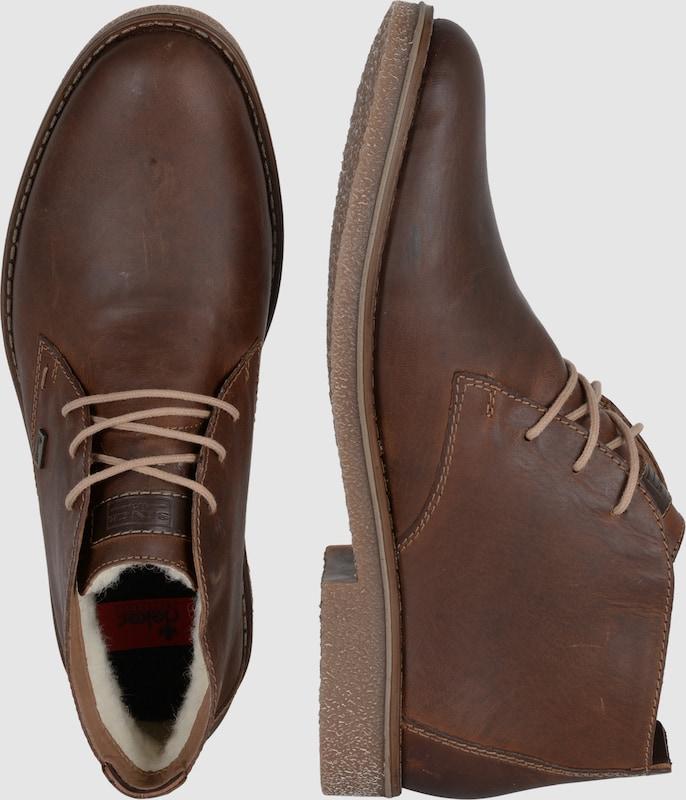 RIEKER Schnürschuh mit Lammwolle Verschleißfeste billige Schuhe