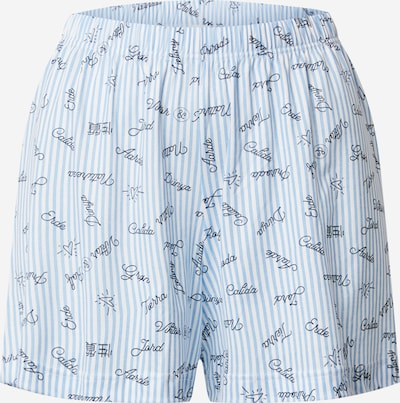 CALIDA Korte pyjama 'Viktor & Rolf' in de kleur Lichtblauw / Wit, Productweergave