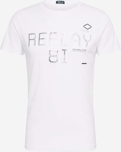 REPLAY Shirt in grau / weiß, Produktansicht