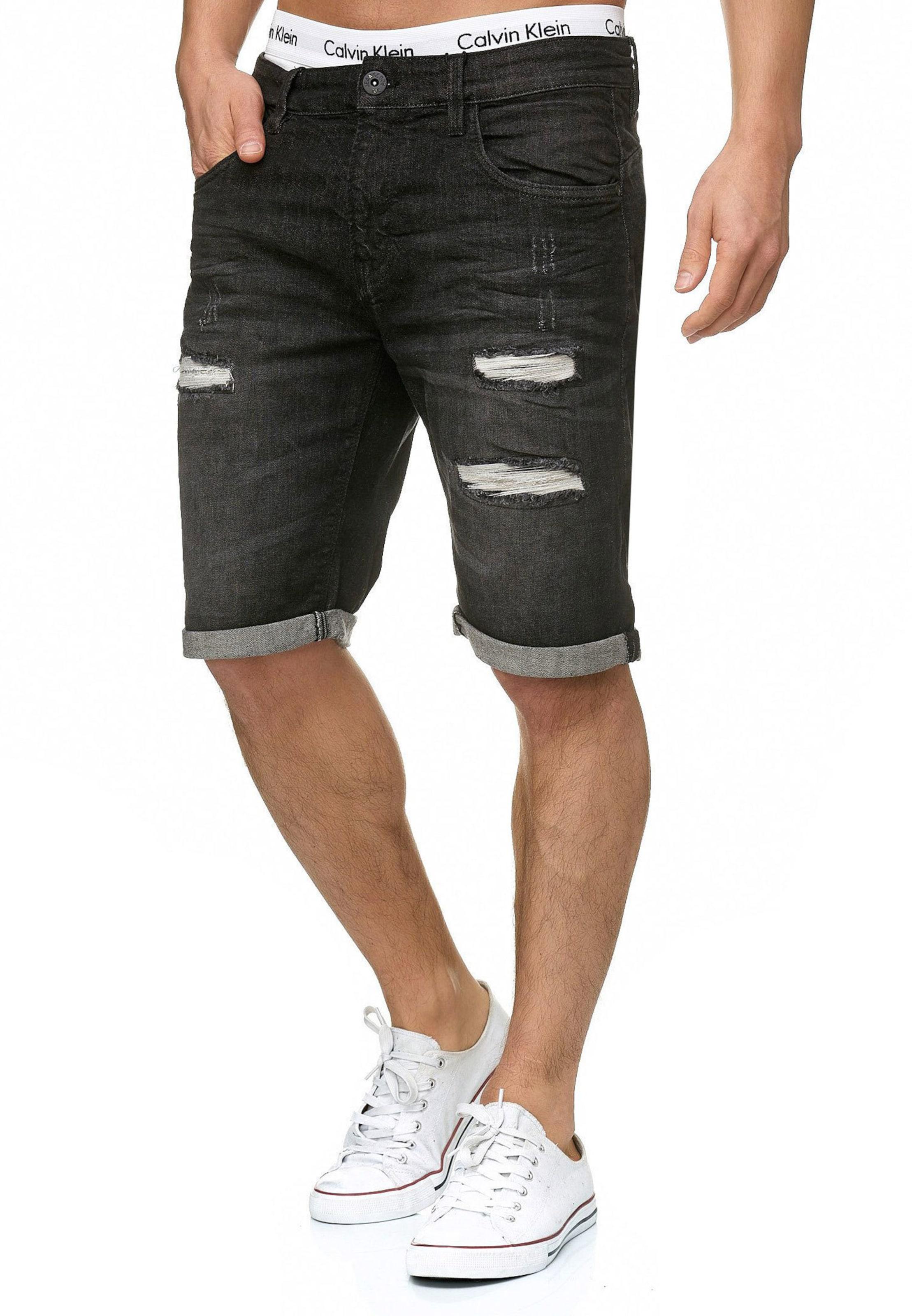Jeans 'caden' Indicode Shorts Graphit In ALcRj534Sq