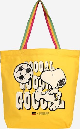 LEVI'S Cabas 'Snoopy Sport Goal Tote' en jaune / blanc, Vue avec produit