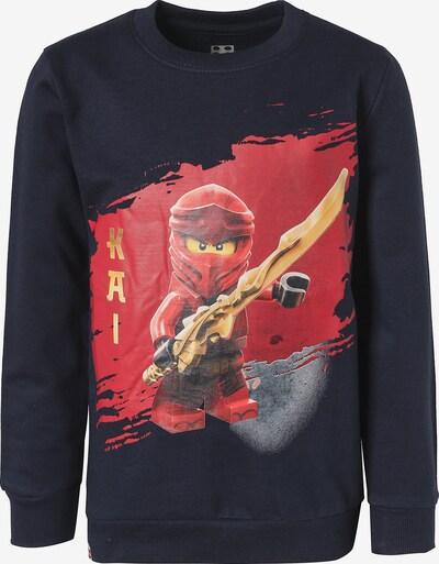 LEGO WEAR Sweatshirt in nachtblau / rot, Produktansicht