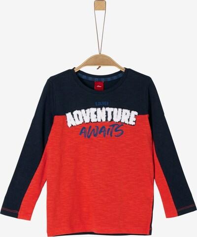 s.Oliver Junior Shirt in blau / nachtblau / pastellrot / weiß, Produktansicht