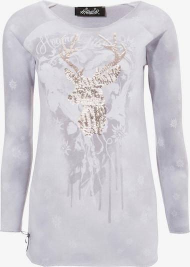 HANGOWEAR Trachtenshirt in gold / grau / hellgrau, Produktansicht