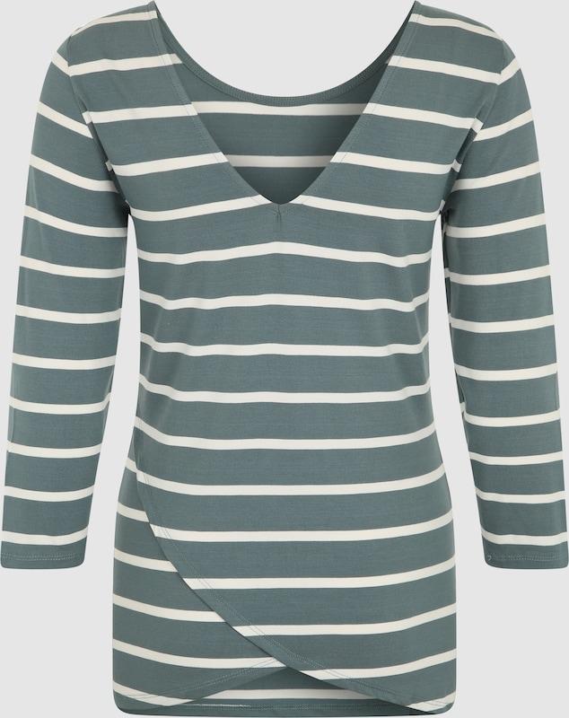 OBJECT Shirt mit 3/4-Ärmeln und V-Ausschnitt
