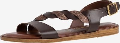 TAMARIS Sandale in kastanienbraun / bronze, Produktansicht