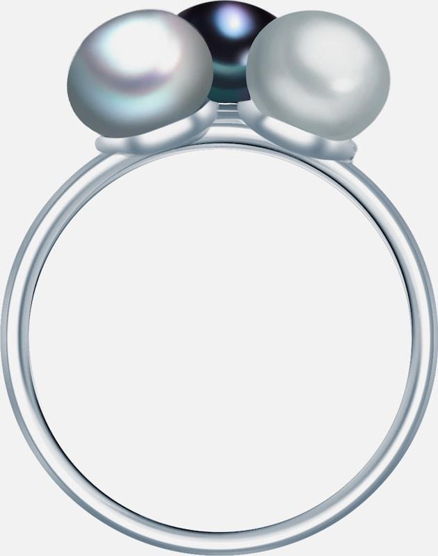 Valero Pearls Silberring mit Süßwasser-Zuchtperlen