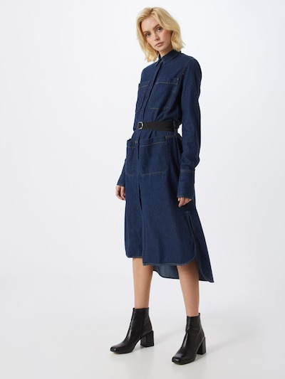 DIESEL Blousejurk 'TOKYO' in de kleur Blauw denim, Modelweergave