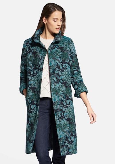 Basler Mantel mit Stehkragen in grün, Modelansicht