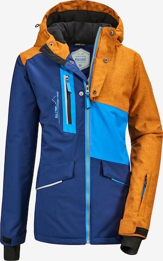 KILLTEC Jacke 'Flumet' in hellblau / dunkelblau / dunkelgelb, Produktansicht